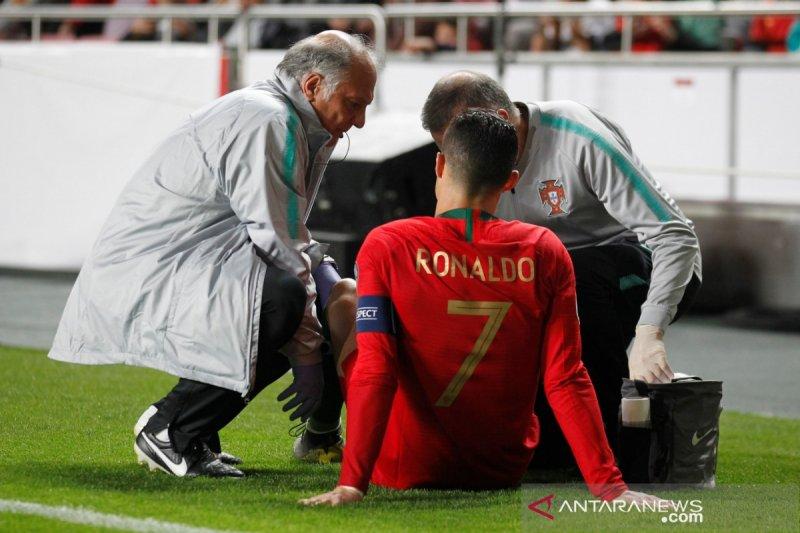 Ronaldo baru kembali satu-dua pekan mendatang akibat cedera