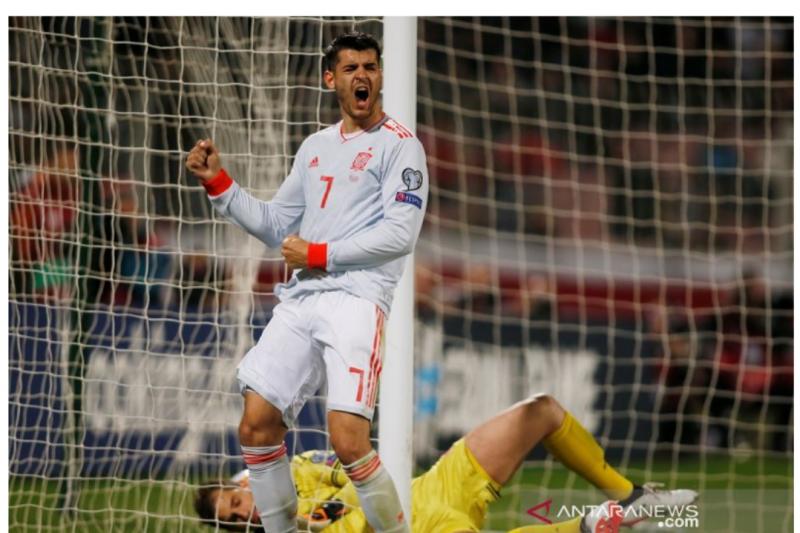 Dua Gol Morata Antar Spanyol Menang Atas Malta
