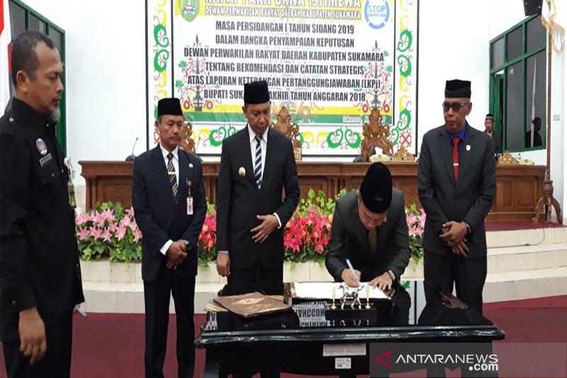 DPRD Sukamara berikan rekomendasi terhadap LKPJ tahun anggaran 2018