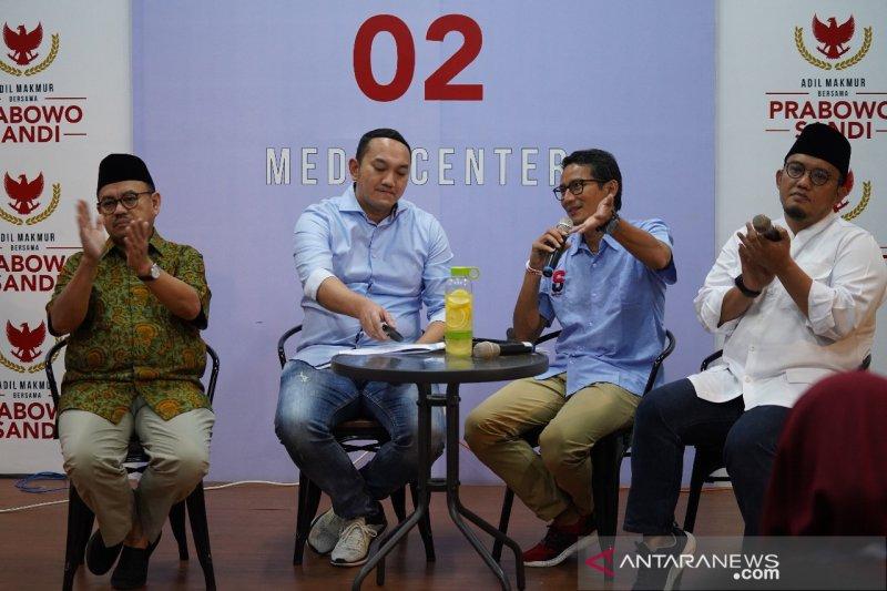 Dana kampanye Prabowo-Sandiaga mencapai Rp191,5 miliar