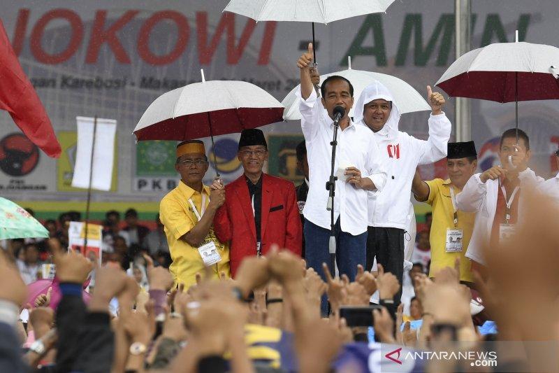 Kampanye capres petahana di Makassar