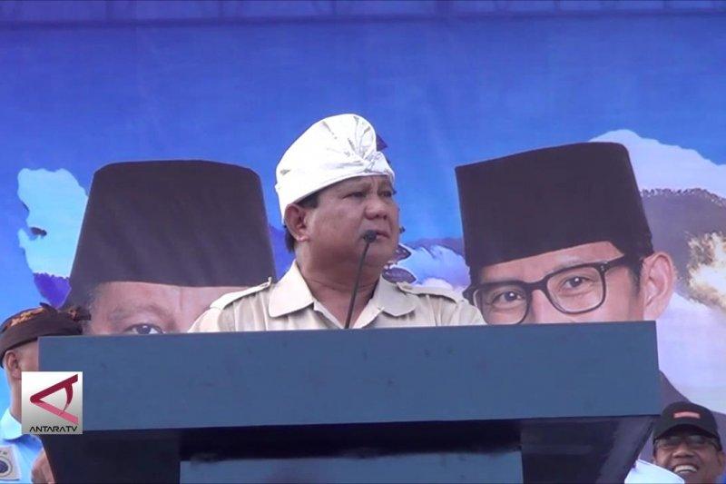 Capres Prabowo janji berantas korupsi