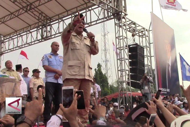 Prabowo janjikan pedapatan rakyat meningkat