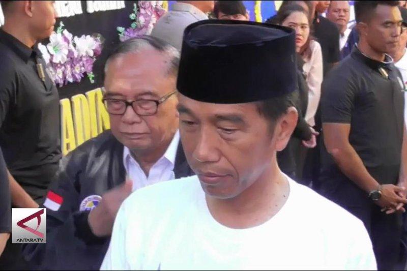 Jokowi melayat ke rumah duka Ketum Seknas Pemenangan