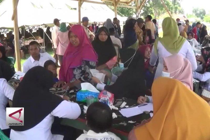 Ratusan warga desa nikmati pelayanan kesehatan gratis