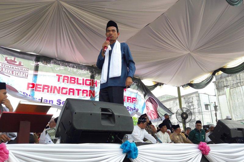 Prabowo Sandi unggul telak di sekitar rumah UAS