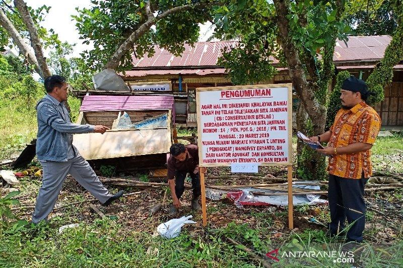 Eksekusi sita jaminan tanah sengketa di Barito Timur berjalan mulus