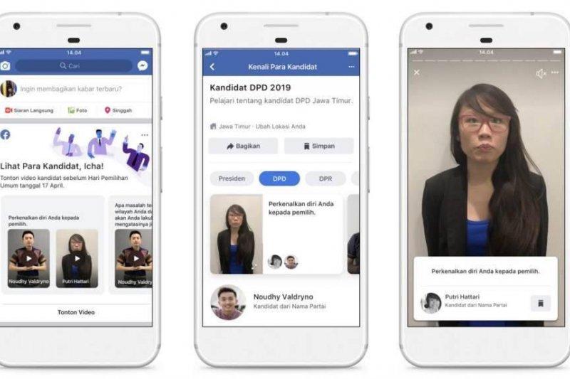 Info Kandidat untuk Pemilu 2019 dibuat fitur tersendiri Facebook