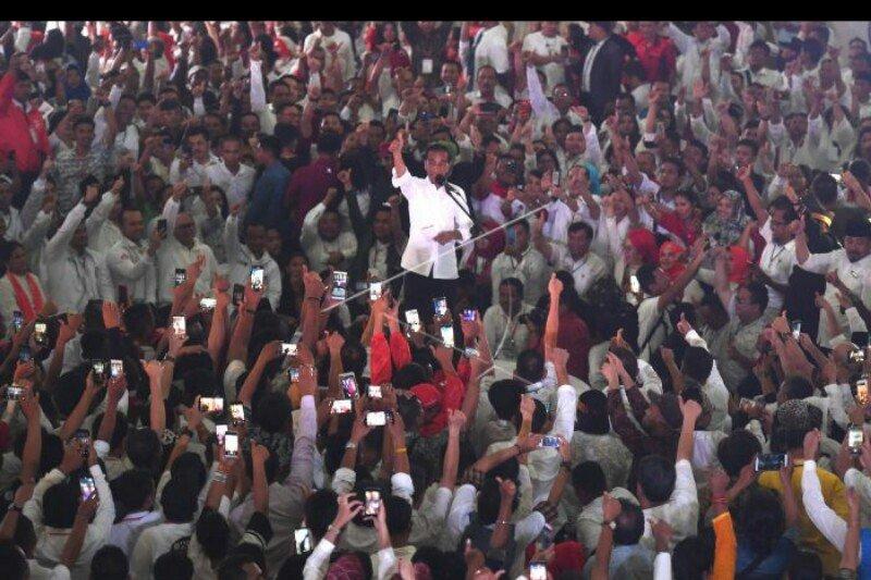Jokowi berkeyakinan raih 65 persen suara di Sumut