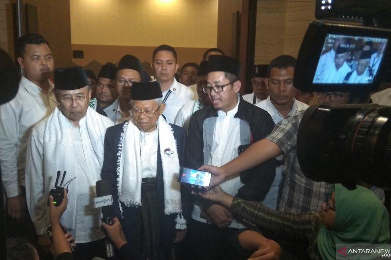 Ma'ruf: Ya gak papa sih, kalau Prabowo umumkan 80 kandidat menteri