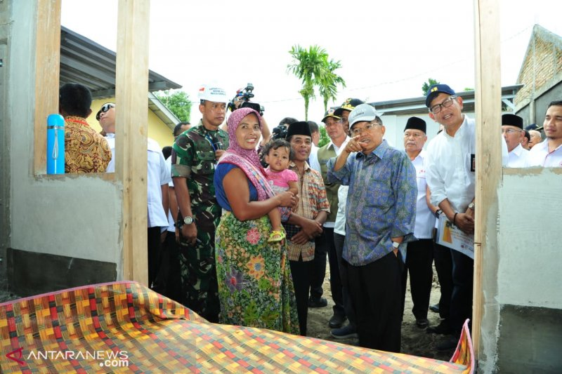 Wapres Tinjau Lokasi Rekonstruksi Pascabencana Lombok