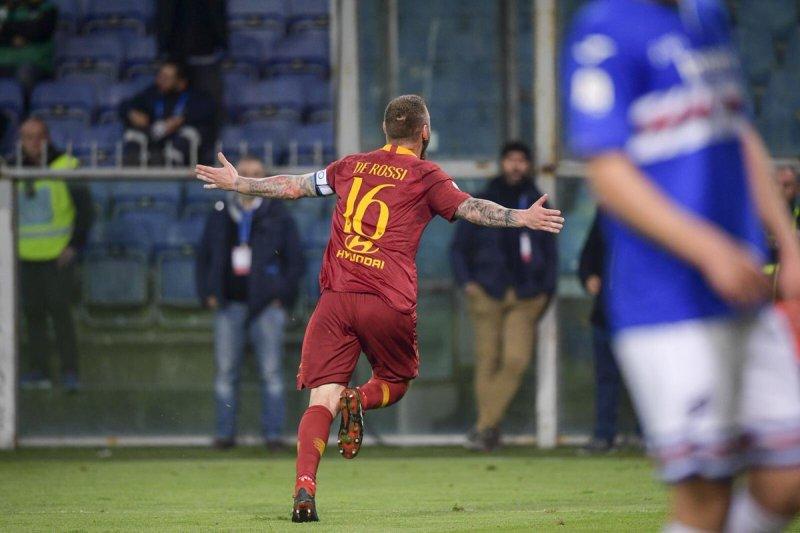 De Rossi cetak gol tunggal antarkan Roma menang di kandang Sampdoria