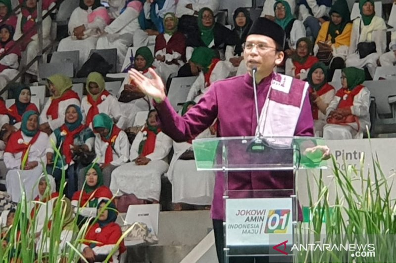 TGB:  lawan berat capres 01 Jokowi adalah fitnah