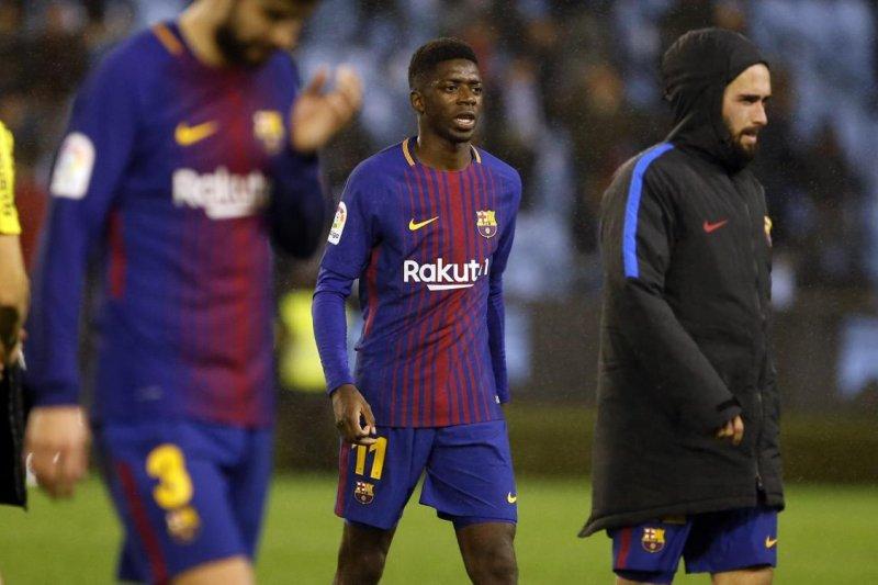 Barca pasang Dembele hadapi Manchester United di Liga Champions
