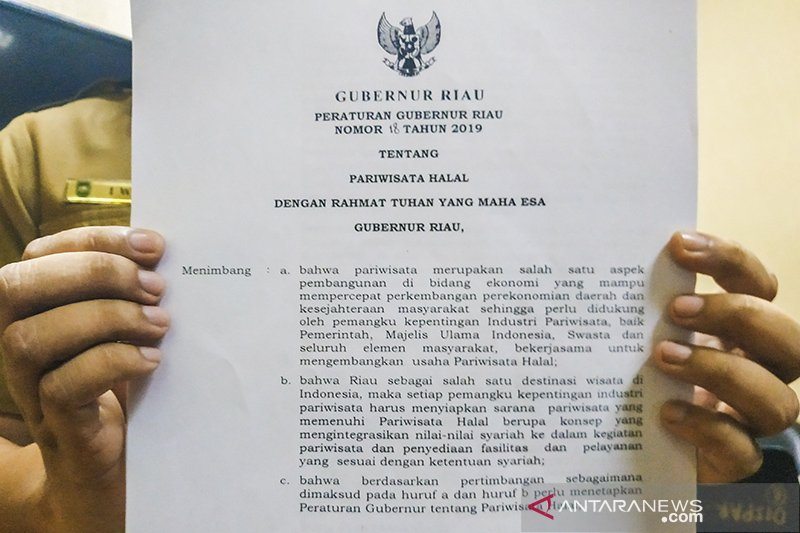 Ingin imbangi Thailand, Gubernur Riau terbitkan Pergub Pariwisata Halal