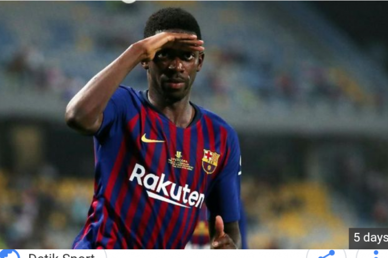 Ousmane Dembele tak mau hengkang dari Barcelona