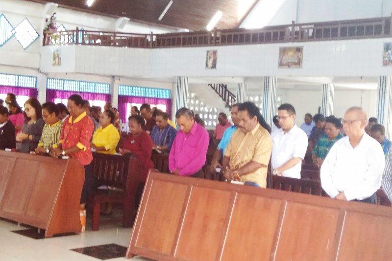 Umat Kristiani Biak Numfor doakan kelancaran pemilu serentak