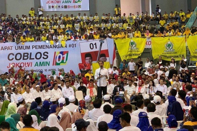 Jokowi sapa pendukungnya di Probolinggo dengan bahasa madura