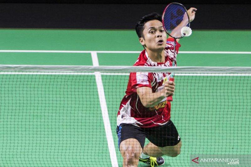 Tunggal putra Ginting dan Jonatan berguguran di babak pertama Kejuaraan Asia