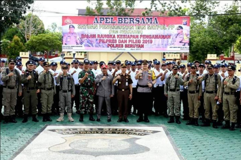 Menjelang pemilu, pengamanan di Seruyan terus ditingkatkan