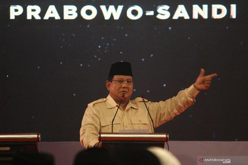 Pidato kebangsaan Prabowo di Surabaya