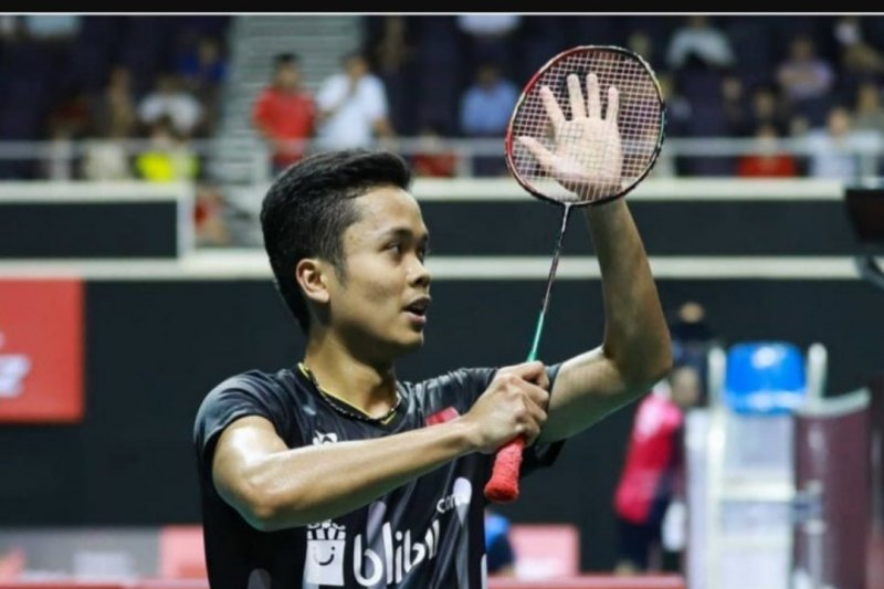 "Ditaklukkan Jepang,  Anthony Ginting""runner-up"" Singapore Open2019"