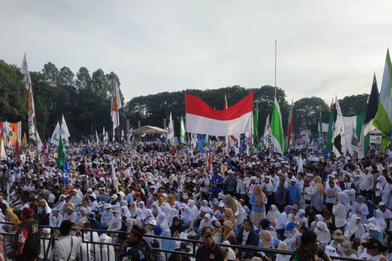 Kampanye akbar Prabowo-Sandi di Tangerang diawali senam sehat