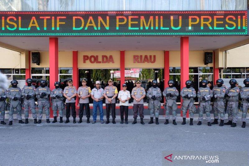 Polda Riau kerahkan 5.875 personel pengamanan Pemilu 2019