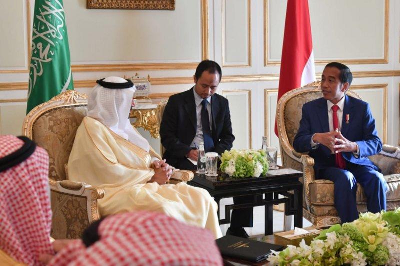 Menlu Retno: Presiden Jokowi bertemu Menteri Energi Arab bahas kerja sama Aramco-Pertamina