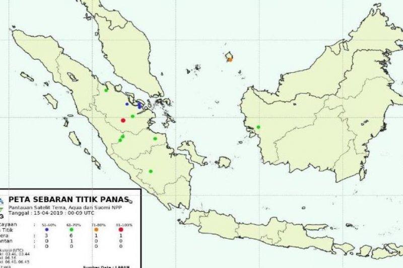 BMKG deteksi peningkatan jumlah titik panas di Riau