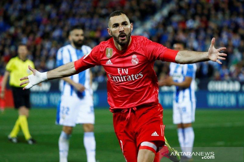 Ditahan imbang Leganes 1-1 Real Madrid tetap diurutan ketiga