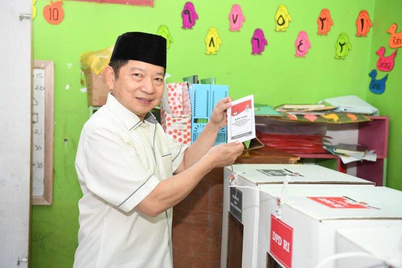 Plt Ketum PPP salurkan hak pilihnya di Tasikmalaya