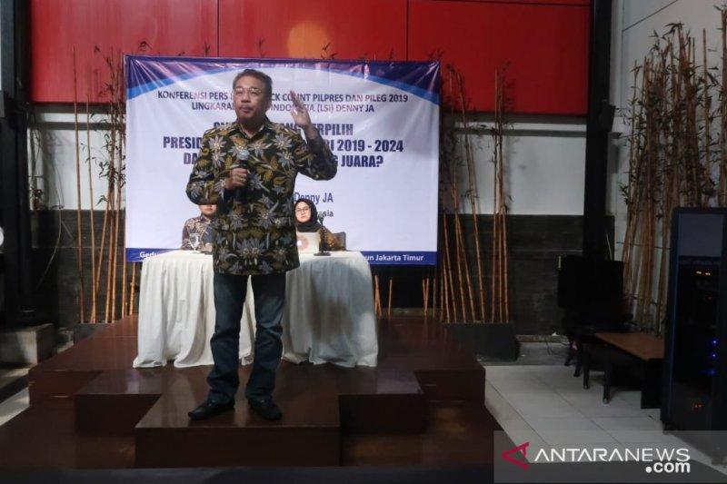 Jokowi-Ma'ruf menang versi hitung cepat LSI Denny JA