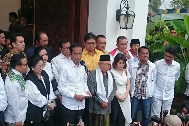 Hitung cepat 54,5 persen, Jokowi tetap tunggu hasil akhir KPU
