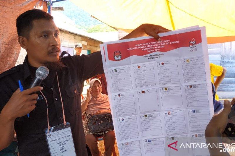 370 TPS di Banggai  gelar pemungutan suara hari ini