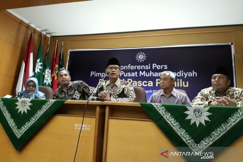 Muhammadiyah meminta semua pihak menerima hasil resmi Pemilu 2019