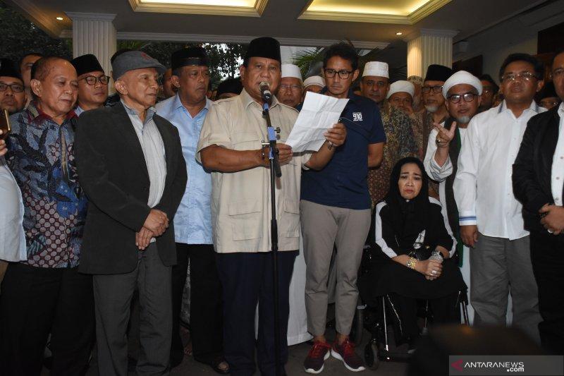 BPN pindahkan acara Syukur Kemenangan dari Monas ke kediaman Prabowo