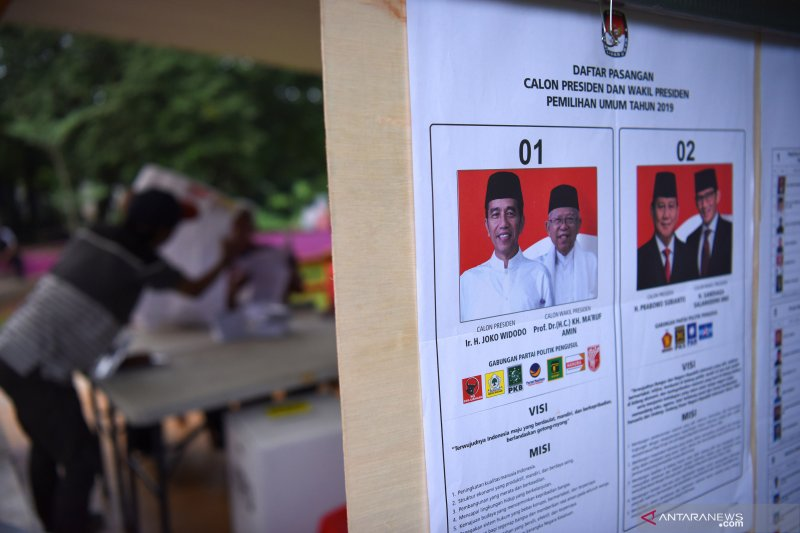 Jokowi-Ma'ruf unggul 8,06 persen versi Populi Center