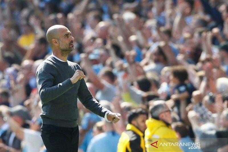 Guardiola lega, Manchester City sukses raih poin penuh di bawah tekanan