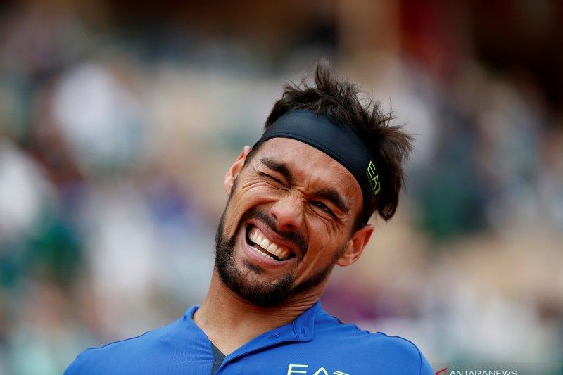 Petenis Fognini melaju ke putaran dua Italia Open