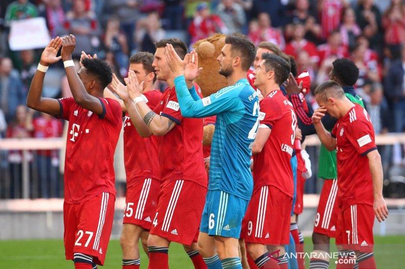Inilah hasil dan klasemen Liga Jerman, Muenchen mantapkan posisi puncak