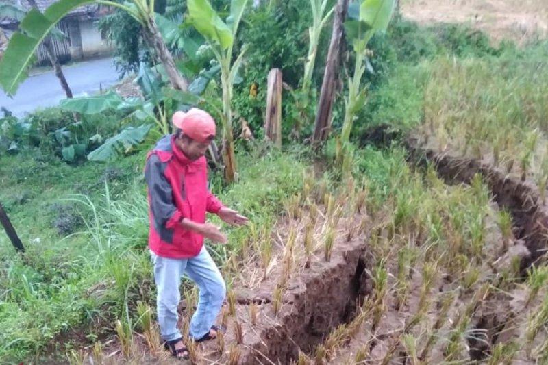 Bencana Pergeseran Tanah Landa Gunungbatu Sukabumi