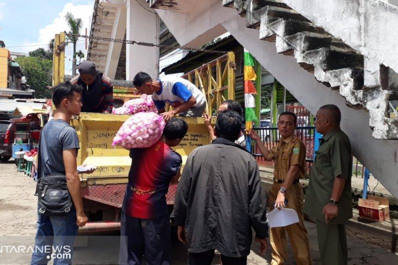 Kemendag gelar operasi pasar sebar 30 ton bawang putih di Palembang
