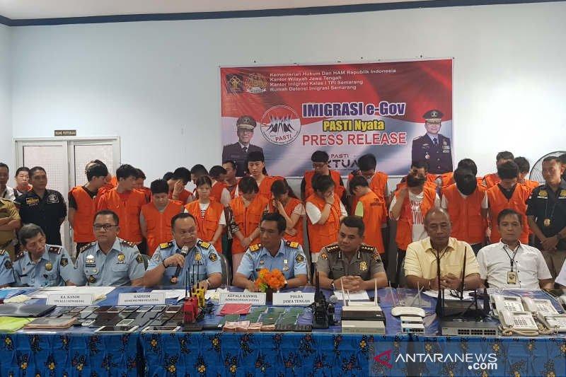 40 WNA ilegal di Semarang bukan komplotan peretas