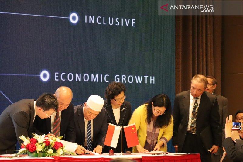 Wapres Jusuf Kalla saksikan penandatangan 23 MoU Indonesia-China