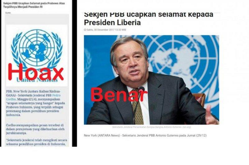 Ucapan selamat Sekjen PBB atas terpilihnya Prabowo hoaks