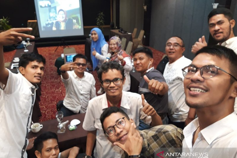Video conference bersama Direktur MSDM
