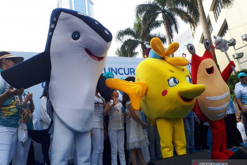 Udang, kepe-kepe, hiu paus jadi maskot Gerakan Indonesia Bersih