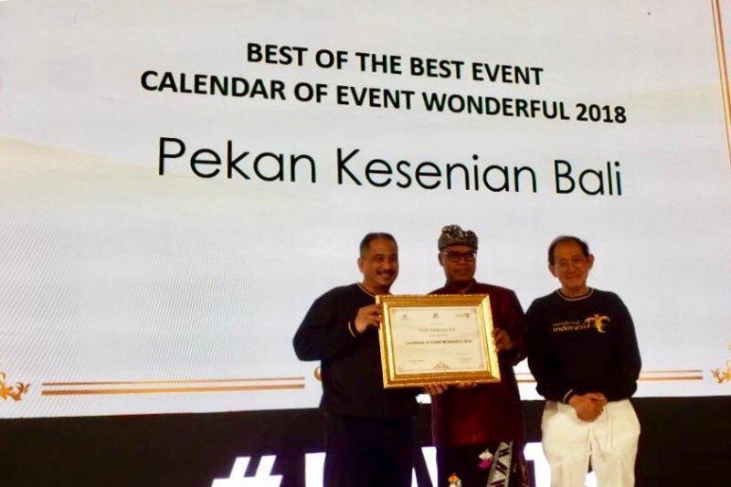 Kemenpar berikan penghargaan terbaik untuk Pesta Kesenian Bali