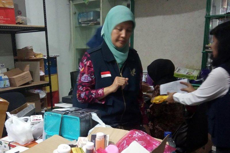 BBPOM amankan kosmetika ilegal senilai Rp1 miliar